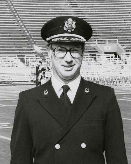 Dr. Paul Droste was the director of the Ohio State Marching Band from 1970 to 1983. Credit: Courtesy of OSU
