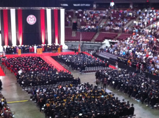 Ohio State's 2014 Summer Commencement took place Aug. 10  at the Schottenstein Center. Credit: Danielle Seamon / Arts editor