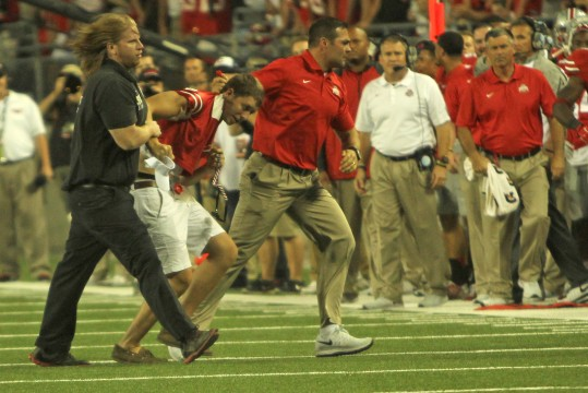 Ohio State student tackled on field, charged with criminal trespassing