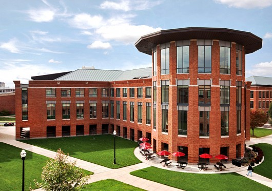 OSU Fisher College of Business is located between West Woodruff and West Lane avenues.  Credit: Lantern file photo
