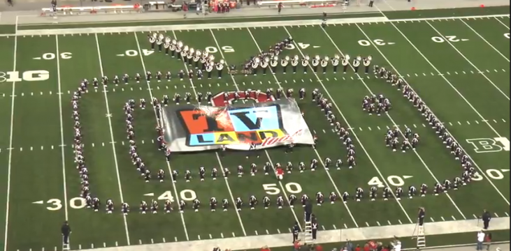 """Ohio State Marching Band """"TV Land"""" – Halftime vs. Virginia Tech: 9-6-14"""