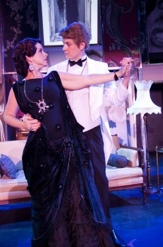 Gina Handy and Chris Shea portray Norma Desmond and Joe Gillis in their upcoming production of 'Sunset Boulevard. Credit: Courtesy of Noah Rogers