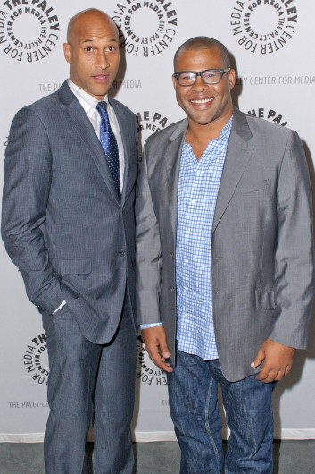 Keegan Michael-Key (left) and Jordan Peele arrive for at the Paley Center For Media Presents 'An Evening With Key & Peele' on June 10. Credit: Courtesy of MCT