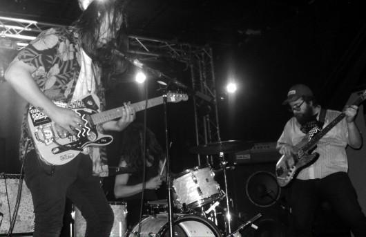 Lantern columnist Jon McAllister (left) performs with his band, SHBS. Credit: Courtesy of Jon McAllister