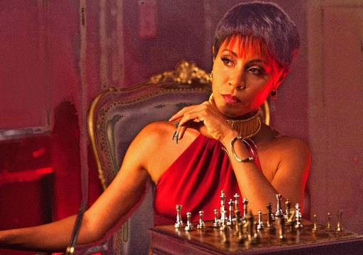 """Jada Pinkett Smith puts on her bad girl sneer as she plays the evil diva, Fish Mooney, on Fox's """"Gotham,"""" its retelling of the Batman myth, premiering Sept. 22. Credit: Courtesy of MCT."""