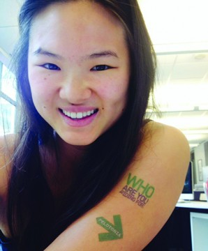 Above and right: Heidi Liou, a fourth-year in fashion and retail studies, was awarded $12,000 through the Undergraduate Pelotonia Fellowship Program to photograph college-aged cancer survivors in a project titled 'Stronger Than Ever.' She aims to model her research and findings similar to the popular photo blog Humans of New York.