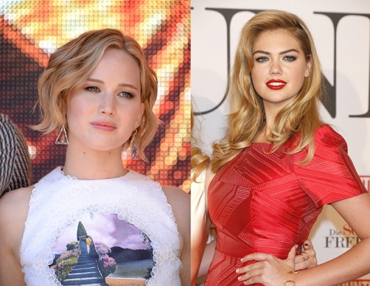 Actress Jennifer Lawrence (right) and model Kate Upton were among several celebrities whose nude, private photos were leaked on the Internet on Aug. 31. Credit: Photos courtesy of MCT