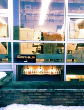 Mote 078 Gallery is located inside Hopkins Hall. The installation show is untitled and by Jonathan Fitz.  Credit: Courtesy of Felipe Castelblanco