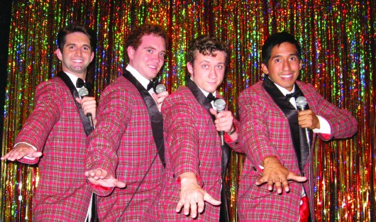 The cast of CATCO's production of 'Forever Plaid,' from left: Cody Shope as Sparky, William Macke as Jinx, Zachary Pytel as Frankie and Ben Hartwig as Smudge Credit: courtesy of CATCO