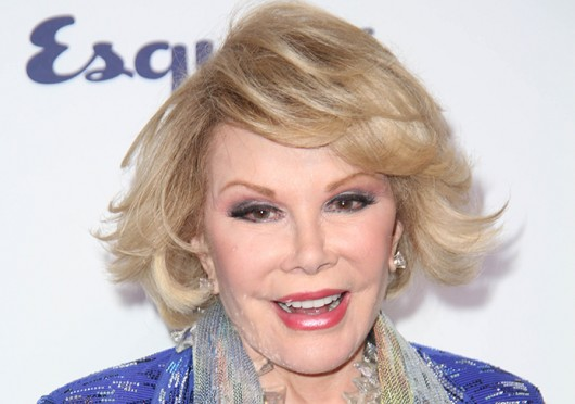 TV personality Joan Rivers has been brought out of a medically-induced coma after she stopped breathing during a routine throat procedure Aug. 28. Credit: Courtesy of MCT