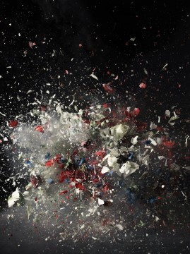 'Blow Up #1' — a portion showed above — is a 2007 C-print mounted to acrylic by Ori Gersht that is part of the Pizzuti Collection. Credit: Courtesy of Pizzuti Collection and CRG Gallery