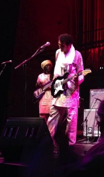 Nigerien guitarist Bombino performs at the Wexner Center for the Arts Sept. 10, 2014. Credit: Sarah Mikati / Lantern reporter
