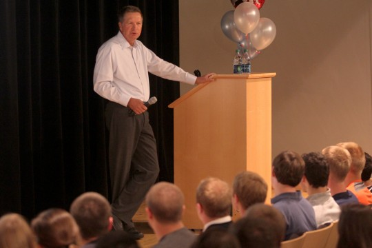 Gov. John Kasich: 'If you have hopes and dreams, follow them'