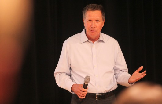 Ohio Gov. John Kasich speaks to about 280 attendees at the OSU College Republicans Campaign Kickoff Event on Sept. 8 at the Ohio Union. Kasich is running for re-election in November. Credit: Mark Batke / Photo editor