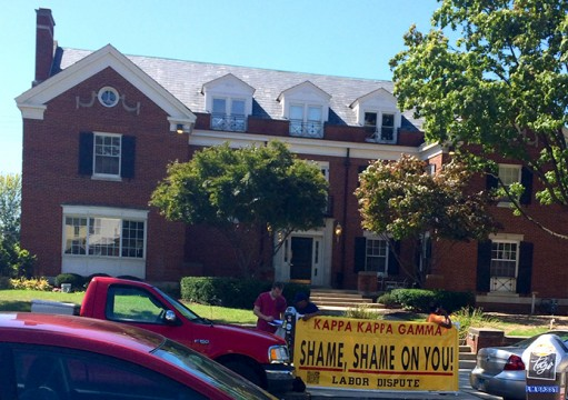 Sorority's house renovations met with protests