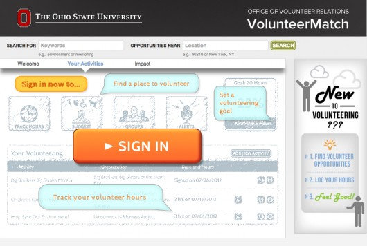 Ohio State launches office to connect community with volunteer options, using the VolunteerMatch tools.