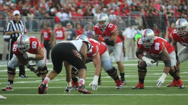 Offensive line paves the way for Buckeyes' big numbers