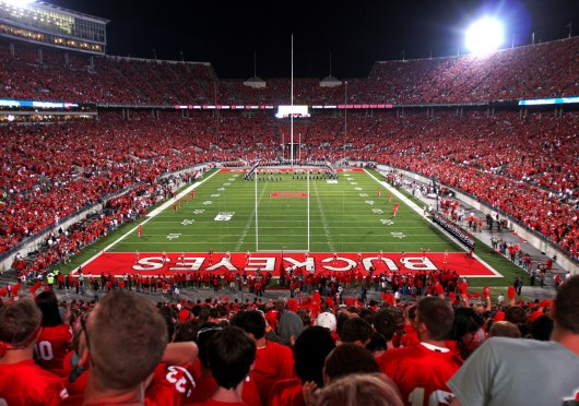 A view of Ohio Stadium from the south stands during an OSU game against Wisconsin Sept. 28, 2013. OSU won, 31-24. Credit: Lantern file photo
