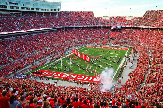 A view from the Ohio Stadium stands before a game against Cincinnati on Sept. 27. OSU won, 50-28.  Credit: Mark Batke / Photo editor