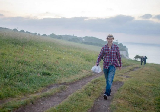 Daniel Bendtsen, The Lantern's assistant arts editor, walks the White Cliffs of Dover in June.  Credit: Courtesy of Daniel Bendtsen