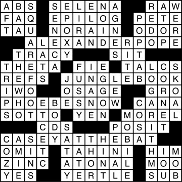 Crossword Solutions 10/23