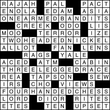 Crossword Solutions 10/27