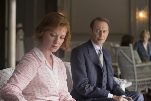 Gretchen Mol (left) plays Gillian Darmody and Steve Buscemi plays Nucky in a scene from the HBO series 'Boardwalk Empire.' Credit: Courtesy of TNS