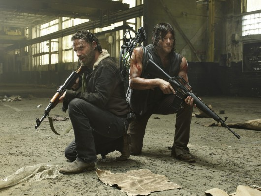 Andrew Lincoln (left) and Norman Reedus star as Rick Grimes and Daryl Dixon in 'The Walking Dead.' Credit: Courtesy of MCT