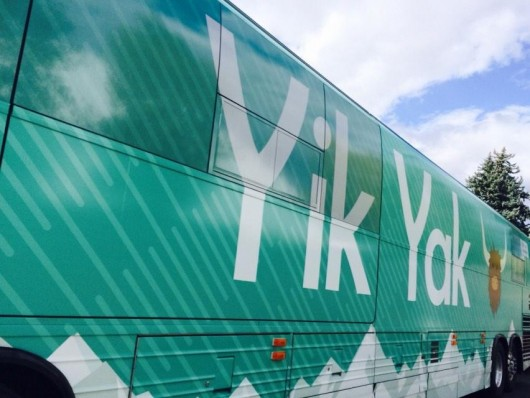 Yik Yak tour bus Credit: Courtesy of Yik Yak