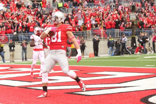 Record-setting offense leads Ohio State past Rutgers, 56-17