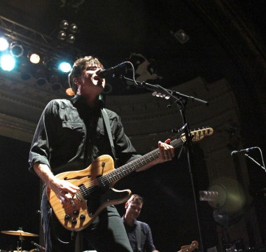 Jim Adkins of Jimmy Eat World performs live Oct. 13 at the Newport Music Hall. Credit: Emily Yarcusko / For The Lantern
