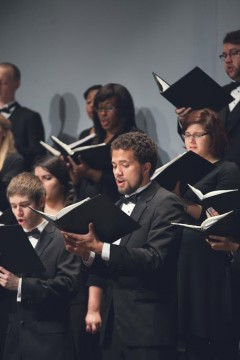 """A number of university choirs are set to perform in a choral """"collage"""" Oct 10 in Weigel Auditorium."""