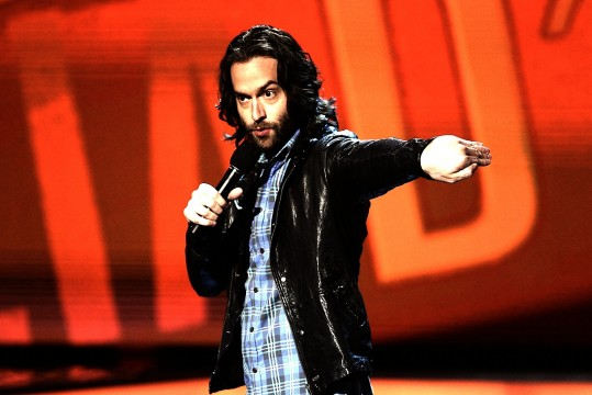 "Comedian Chris D'Elia performs onstage on the 15th season of ""Comedy Central Presents"" at John Jay College, October 17th, 2010 in New York City.  Credit: Courtesy of Dario Cantatore"