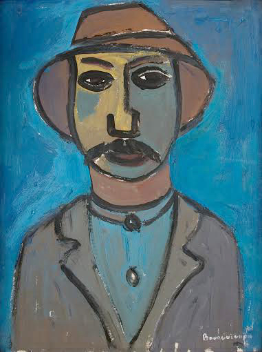 'Italian Peasant,' painted by Paul-Henri Bourguignon with gouache in 1953. Credit:  Courtesy of Erika Bourguignon