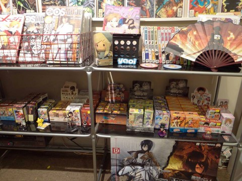 The interior of Gotcha Gachapon, a new pop-up shop located at 997 N. High St that is devoted to Japanese animation.