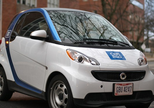 A car2go smart car parked on OSU's campus. Credit: Lantern file photo