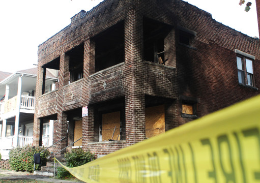 An off-campus fire occurred at 1706 E. Summit St. on Oct. 19. Credit: Andrew Zistler / For the Lantern