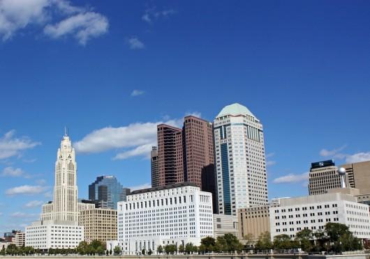 The Columbus, Ohio skyline on Oct. 8, 2014. Credit: McKenzie Merriman / Lantern photographer