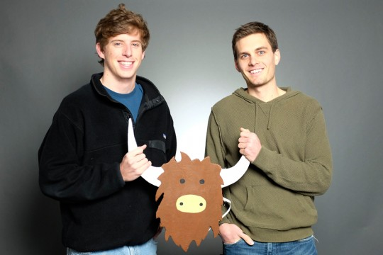 Brooks Buffington (left) and Tyler Droll created Yik Yak, a social media application that allows users to communicate anonymously within their community. Credit: Courtesy of Yik Yak