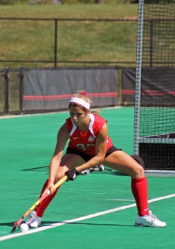 OSU freshman midfielder/forward Maddy Humphrey makes a play on the ball during a game against Ball State Sept. 14. at Buckeye Varsity Field. OSU won 3-2 in OT Credit: Melissa Prax / Lantern photographer