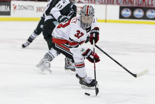 Ohio State men's hockey splits weekend series with Michigan State
