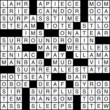 Crossword Solutions 11/6
