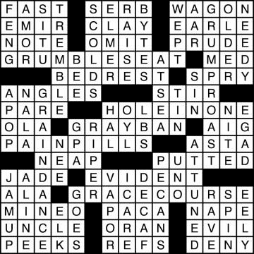 Crossword Solutions 11/13