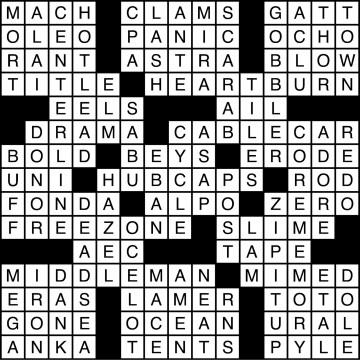 Crossword Solutions 11/17