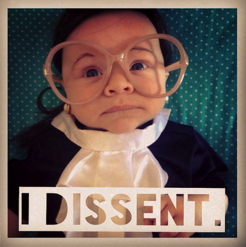 Credit: Courtesy of Kate Livingston Sycamore Livingston dressed as Ruth 'Baby' Ginsburg