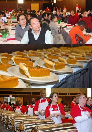 OSU hosts its annual Thanksgiving Dinner on Nov. 28, 2013 at the Ohio Union. Credit: Courtesy of OSU