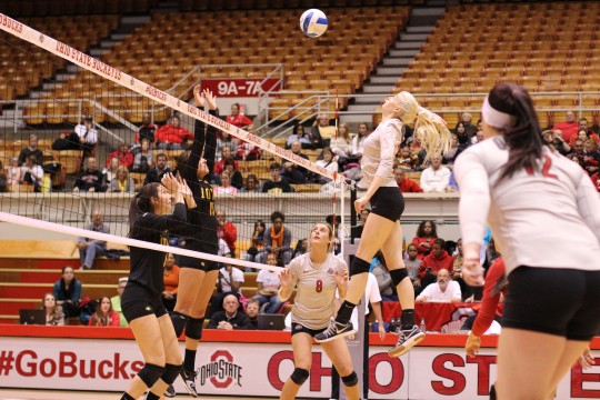 Ohio State women's volleyball completes regular season sweep of Iowa