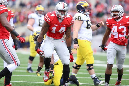 Barrett injured as Ohio State comes from behind to top Michigan, 42-28