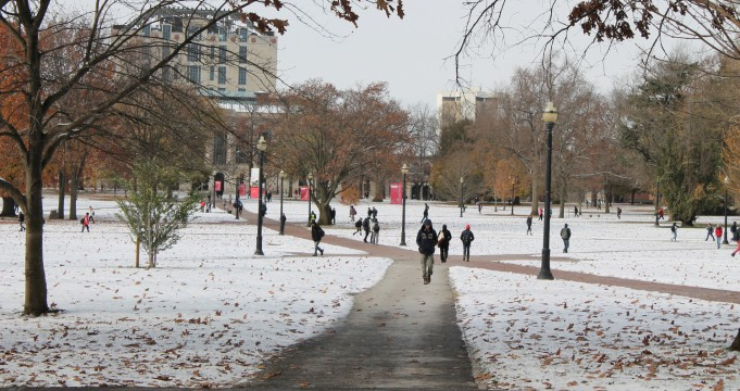 Gallery: OSU sees first snowfall