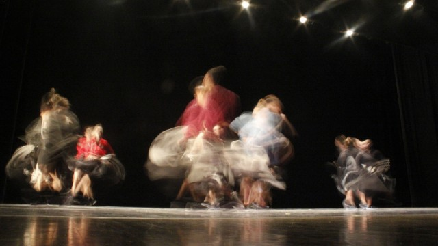 """Participants in this year's """"Dance Downtown"""" rehearse Tuesday at Capitol Theatre. Credit: Jon McAllister / Asst. photo editor"""